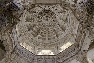 Architecture of Rajasthan - Image: Ranakpur Jain Temple Ceiling detail
