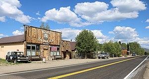 Rand, Colorado - Buildings along Highway 125 in Rand.