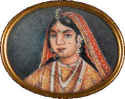 Rani of Jhansi, watercolour on ivory, c. 1857.png