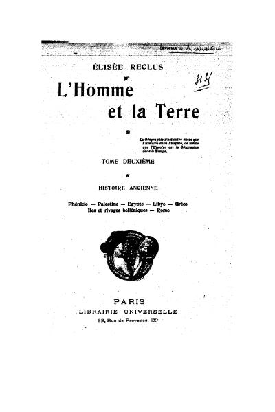 File:Reclus - L'Homme et la Terre, tome II, Librairie universelle, 1905.djvu