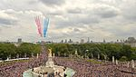 Red Arrows fly over The Queen Victoria Memorial in London MOD 45160288.jpg