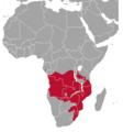 Redunca arundinum range map.png