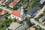 Református templom a levegőből, Csajág.jpg