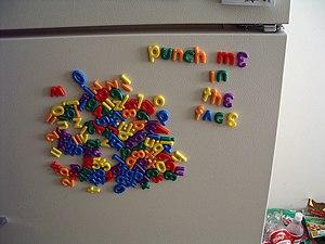 Refrigerator magnet - Alphabetical refrigerator magnets