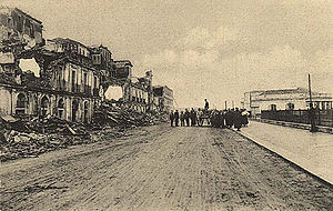 1908 Messina earthquake - The devastated seafront of Reggio Calabria
