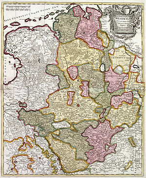 Lower Rhenish–Westphalian Circle - Historical map of the Lower Rhenish–Westphalian Circle of 1710 by Peter Schenk the Elder