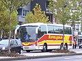 Reisebus Scania Irizar ~ Eifelgold ~ Eschweiler Indestraße.JPG