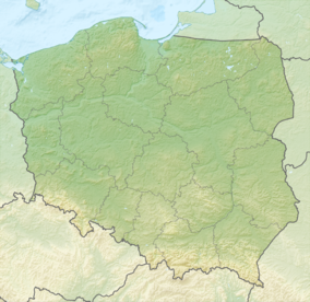 Map showing the location of Pieniny National Park