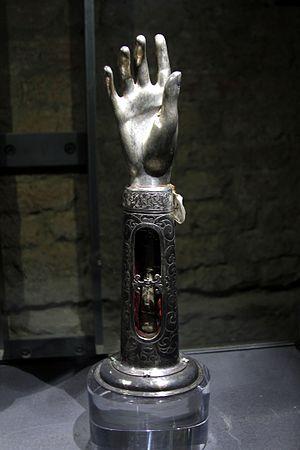 Constantina - Arm reliquaire of Saint Constantina, Santa Maria della Scalla in Siena.