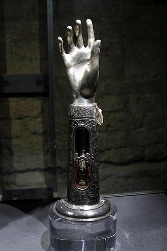 Constantina - Arm reliquaire of Saint Constantina, Santa Maria della Scala in Siena.
