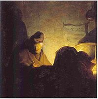 Rembrandt - Bredius 425 - Man Writing by Candlelight - c.1629 Bader Collection.jpg