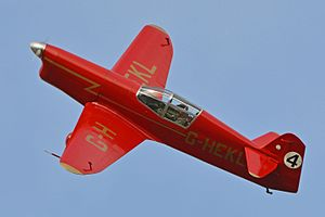 Percival Mew Gull - G-HEKL in 2015, a replica of the Percival Mew Gull G-AEKL.