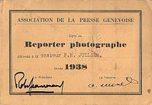 Reporter card during the war (pass)