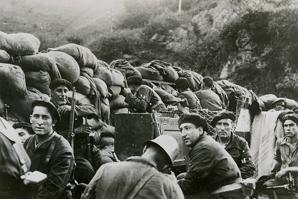 Republican forces during the Battle of Irún