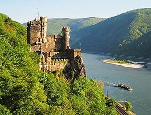 Rhine romanticism -  Burg Rheinstein in Trechtingshausen was the first castle to be rebuilt in the 19th Century