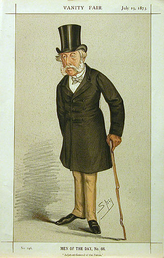 Richard Airey, 1st Baron Airey - Caricatured by Spy for Vanity Fair, 1873