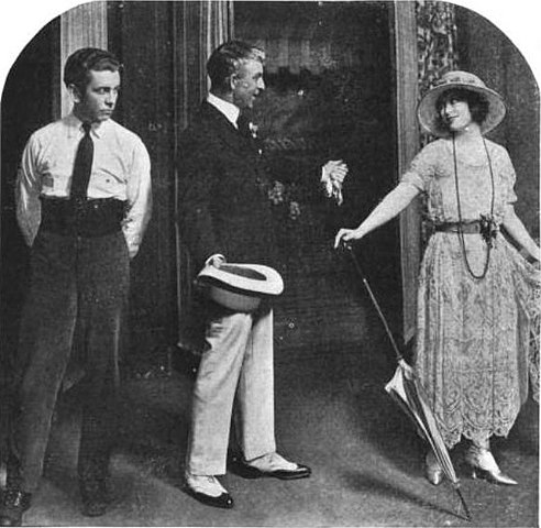 Richard Barbee, Arthur Byron, and Margaret Lawrence in Transplanting Jean (1921).jpg