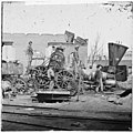 Richmond, Va. Crippled locomotive, Richmond & Petersburg Railroad depot LOC cwpb.02705.jpg
