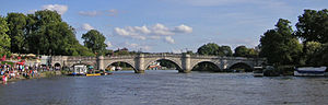 Richmond Bridge, London - Image: Richmond 018 Richmond Bridge TT panorama