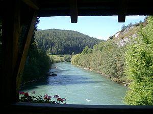 Rienz - The Rienz river, near St. Lorenzen