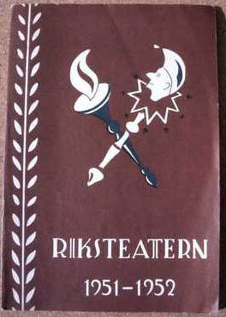 Riksteatern - A standard Riksteatern playbill cover from the 1940s and 50s