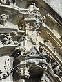 Rivecourt (60), église Saint-Wandrille, portail occidental, dais au-dessus du trumeau 2.JPG