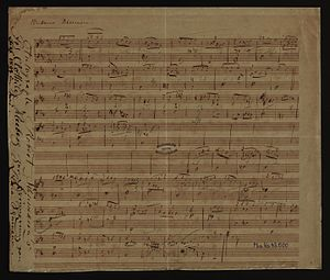 """Waldszenen - An autographic draft of Robert Schumann's """"Einsame Blumen"""" - Waldszenen Op. 82, No. 3."""