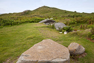 Herm - A prehistoric grave, known as Robert's Cross