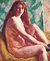 Roderic O Connor Seated nude with red hair.jpg