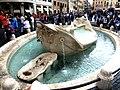 Rom - Fontana della Barcaccia - panoramio.jpg