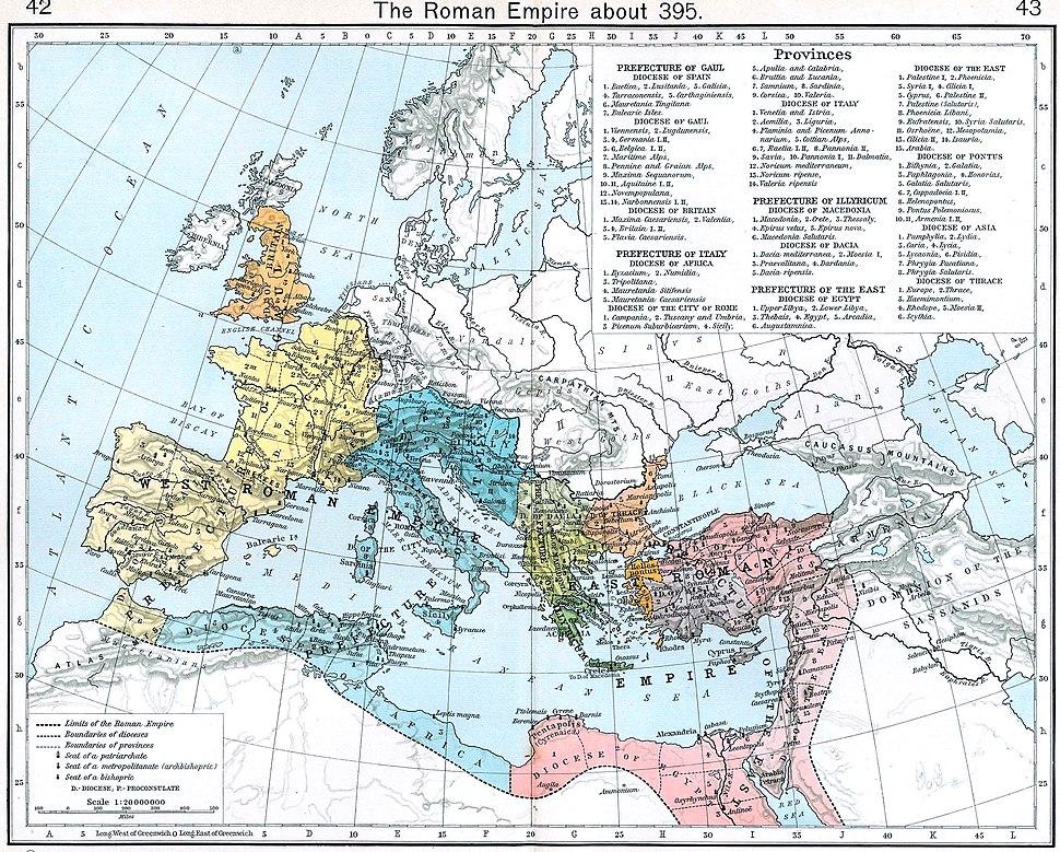 Roman empire 395