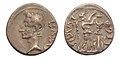 Romeinse munten quinarius Keizer Augustus.jpg