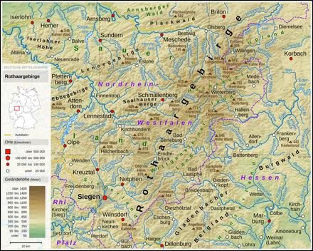 Sauerland Karte Berge.Liste Von Bergen Des Rothaargebirges Wikipedia