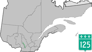 Quebec Route 125 highway in Quebec