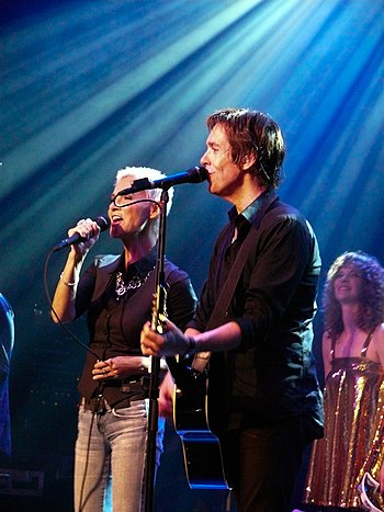 English: Roxette on stage in Amsterdam (May 20...