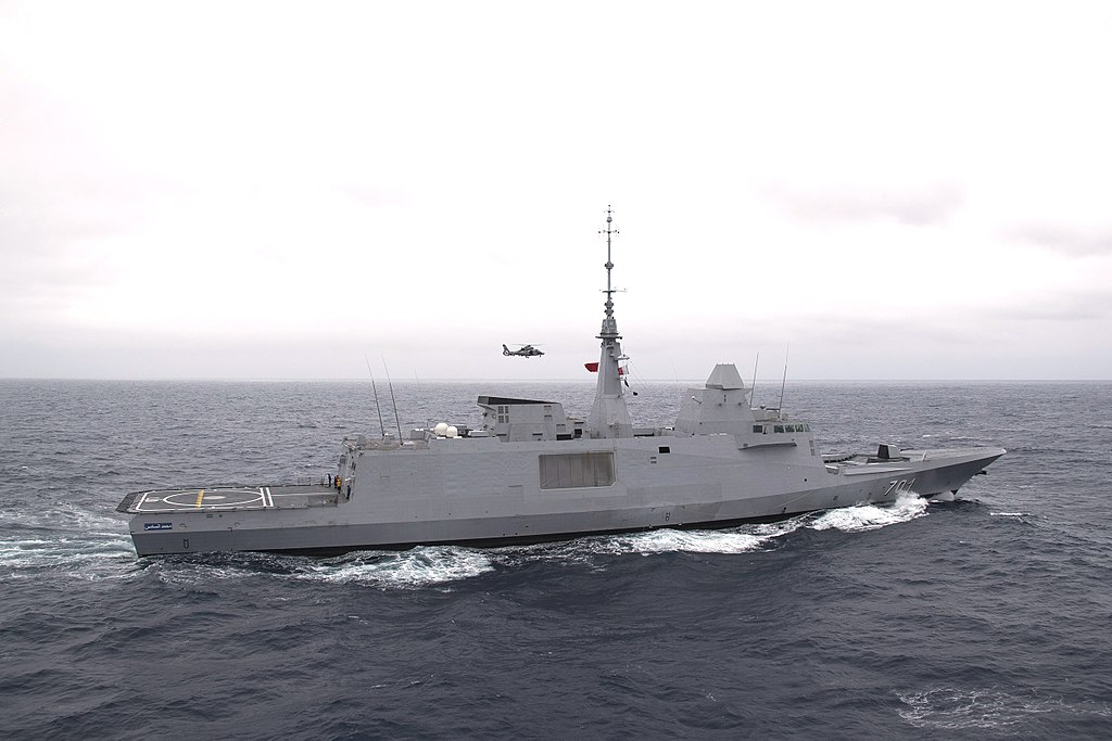 Royal Moroccan Navy frigate Mohammed VI (701) underway in the Atlantic Ocean on 25 April 2018 (180425-N-GC347-1193).JPG