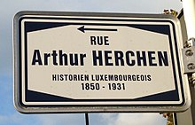 Rue Arthur Herchen in Luxembourg-City (sign).jpg