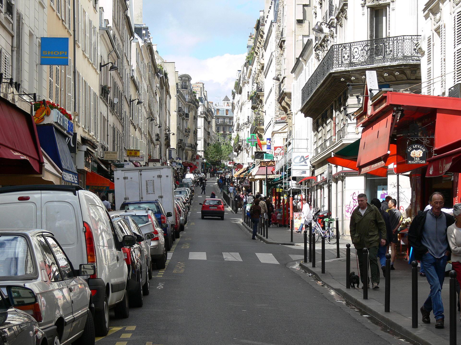 Rue des martyrs paris wikipedia for Miroir rue des martyrs