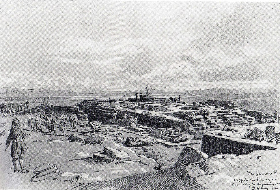 Ruins of Pergamon by Christian Wilberg in 1879 (2)