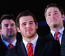 alt=Description de l'image Ryan Bevington. Wales Grand Slam Celebration, Senedd 19 March 2012.jpg.