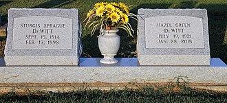 S. S. DeWitt - Graves of former State Representative S.S. DeWitt and his wife, Hazel, at Legion Memorial Cemetery in Newellton in Tensas Parish