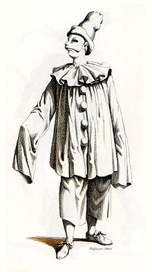 Paillasse commedia dell 39 arte wikip dia for Immagini di clown da colorare