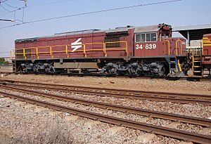 South African Class 34-800 - Image: SAR Class 34 800 34 839 Right