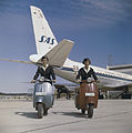 SAS DC-8-33, on the ground, Dan Viking,1960s. Ground Service, Ground hostesses.jpg