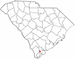 Location of Burton, South Carolina