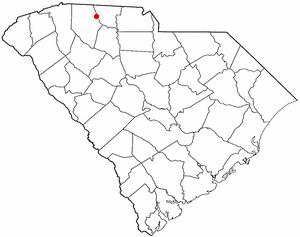 Cowpens, South Carolina - Image: SC Map doton Cowpens