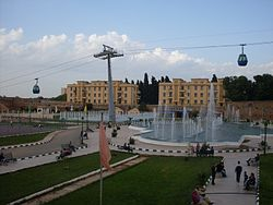 The Gondola lift and fountain of Tlemcen