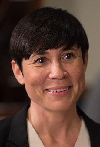 Ine Marie Eriksen Søreide - Image: SD meets with Norway's Minister of Defence 170517 D SV709 158 (34721980225) (cropped)