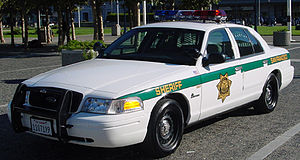 San Francisco Sheriff's Department - An SFSD Ford Crown Victoria Police Interceptor in October 2001.