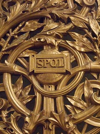 St George's Hall, Liverpool - Senatus Populusque Liverpoliensis